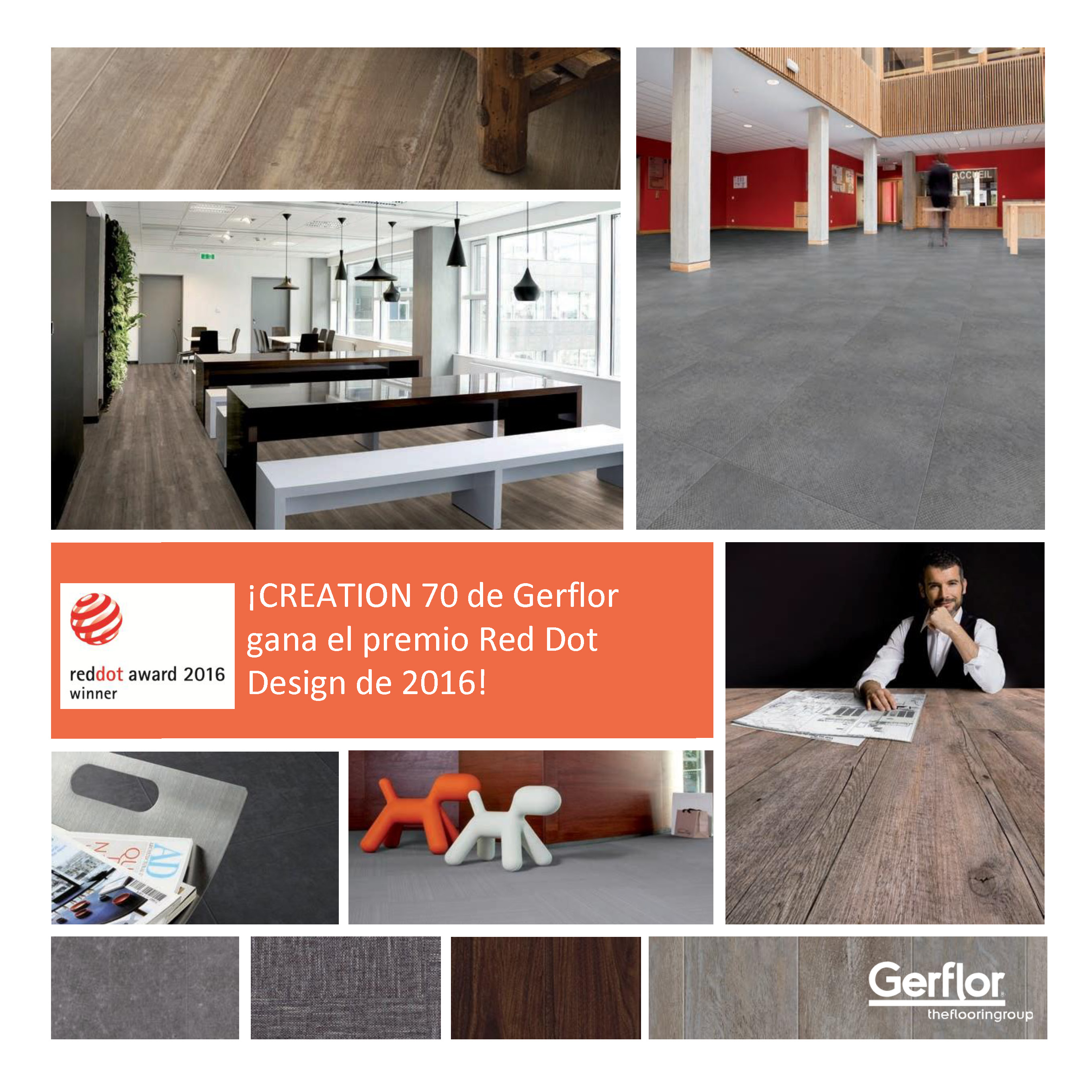 creation 70 de gerflor gana el premio red dot design de 2016 conarquitectura. Black Bedroom Furniture Sets. Home Design Ideas